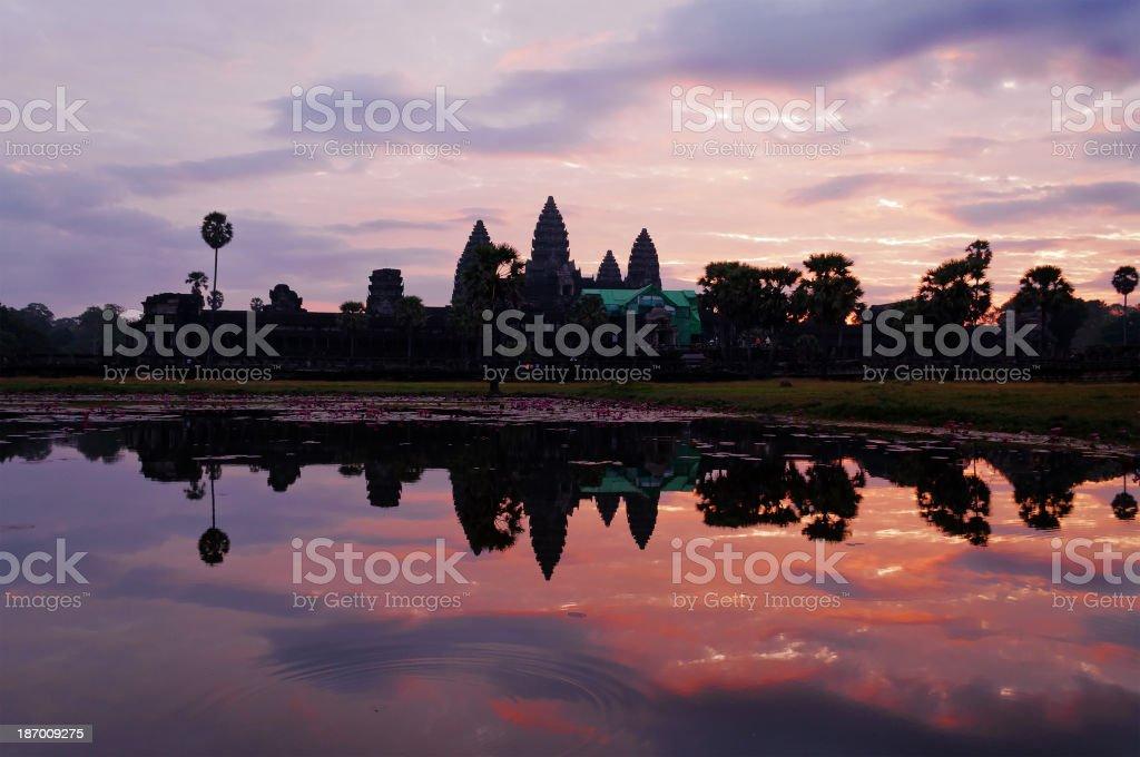 Angkor Wat at sunrise. Cambodia royalty-free stock photo
