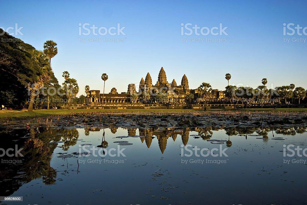 Angkor Wat at sunset, cambodia. royalty-free stock photo