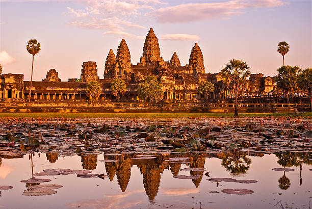 Angkor Wat, Kambodscha bei Sonnenuntergang. – Foto
