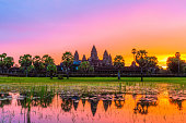 Angkor Wat Temple before sunrice, Siem Reap, Cambodia.