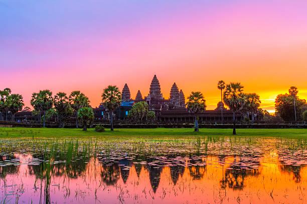 Angkor Wat vor sunrice, Kambodscha. – Foto