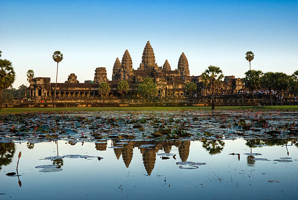 Angkor Wat vor Sonnenuntergang, Kambodscha. – Foto