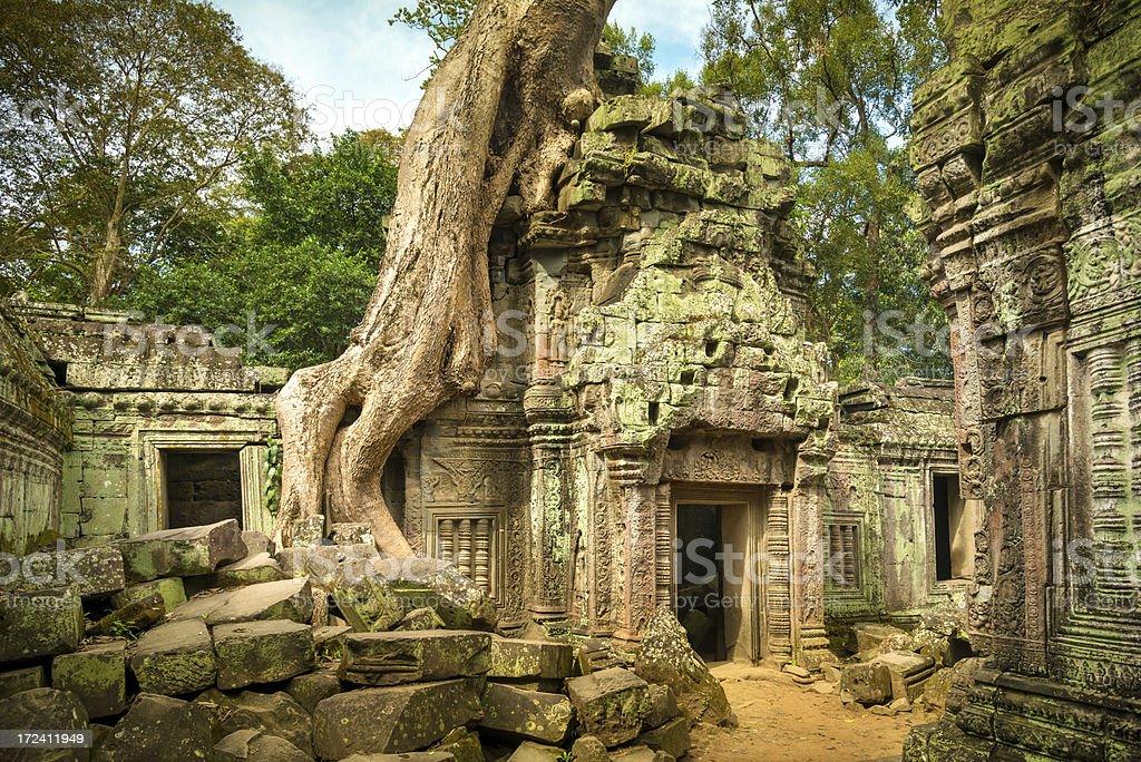 Angkor Wat, Cambodian Temple royalty-free stock photo