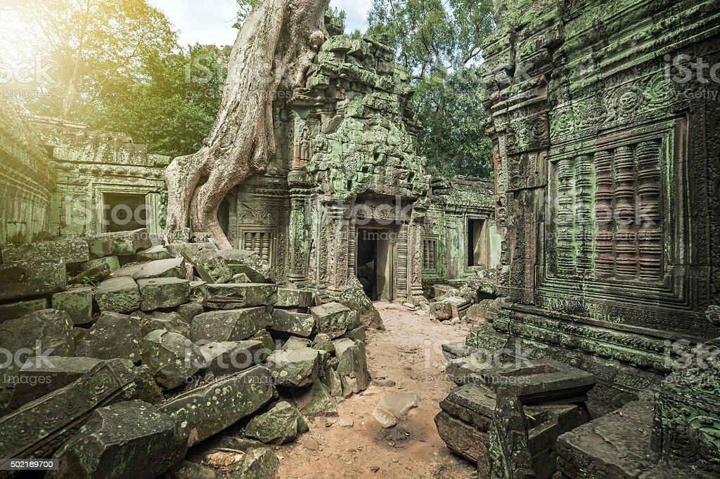 Angkor Wat, Cambodian Temple stock photo