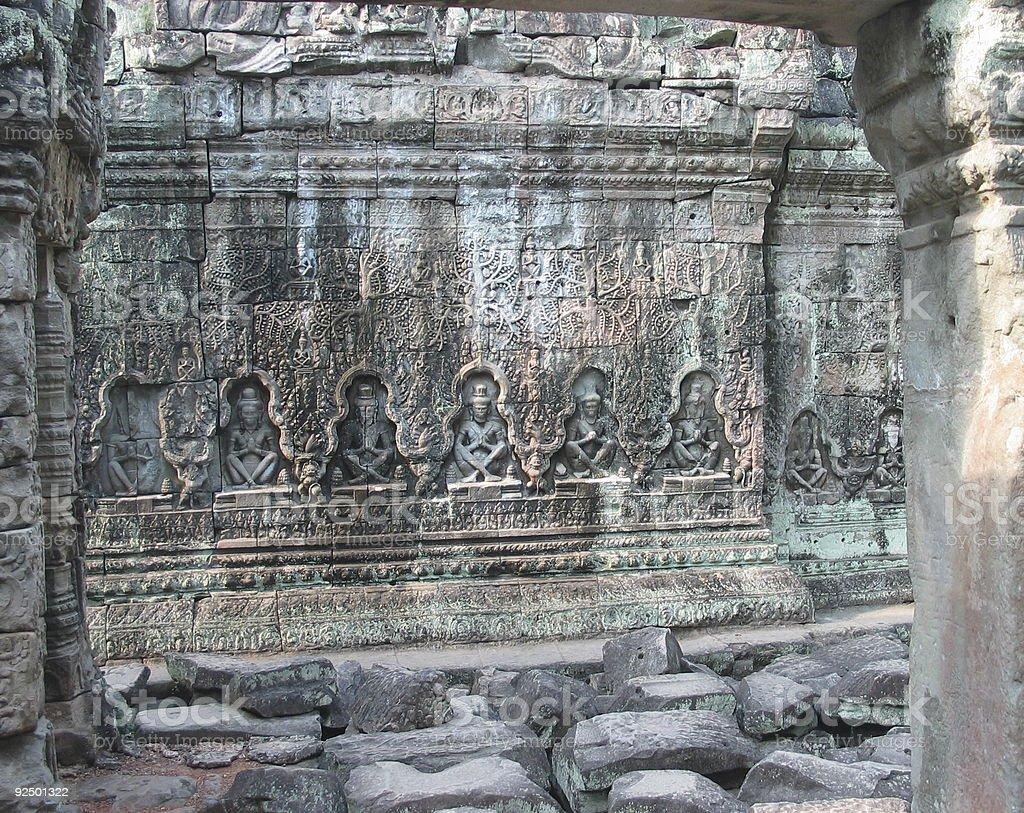 Angkor Wat Frieze 3 royalty-free stock photo