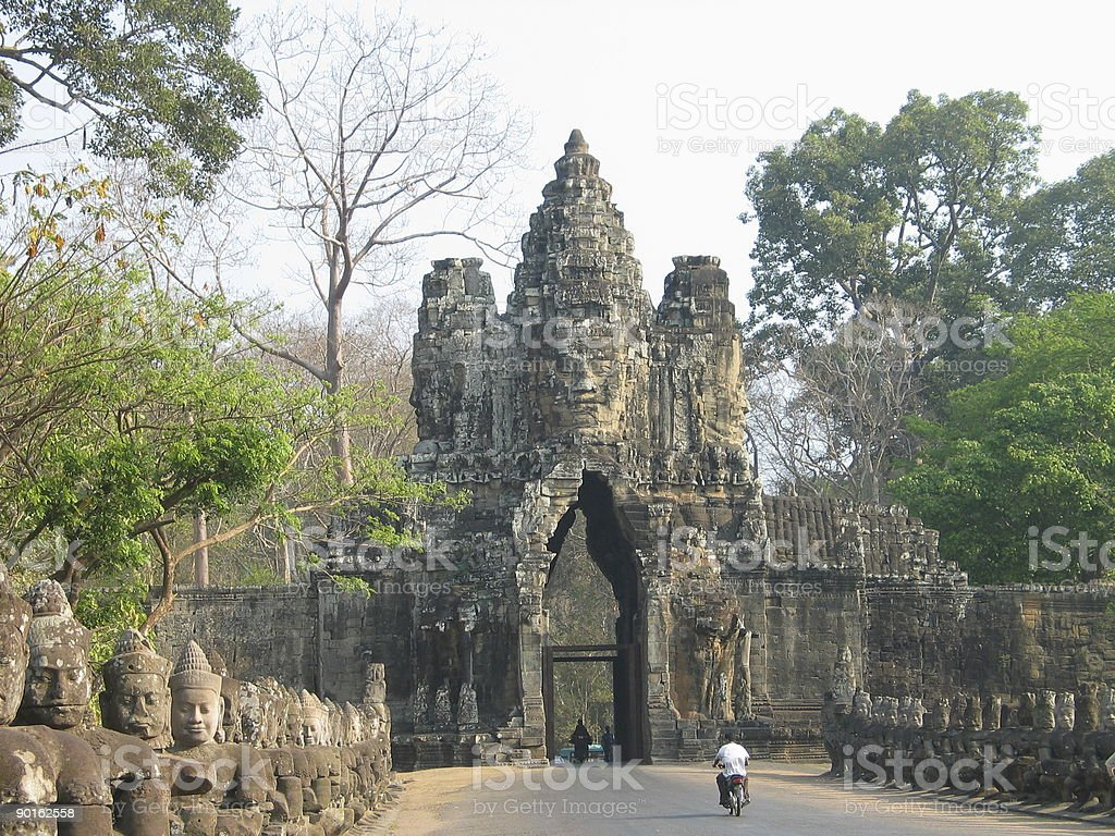 Angkor Wat Gateway, Cambodia royalty-free stock photo
