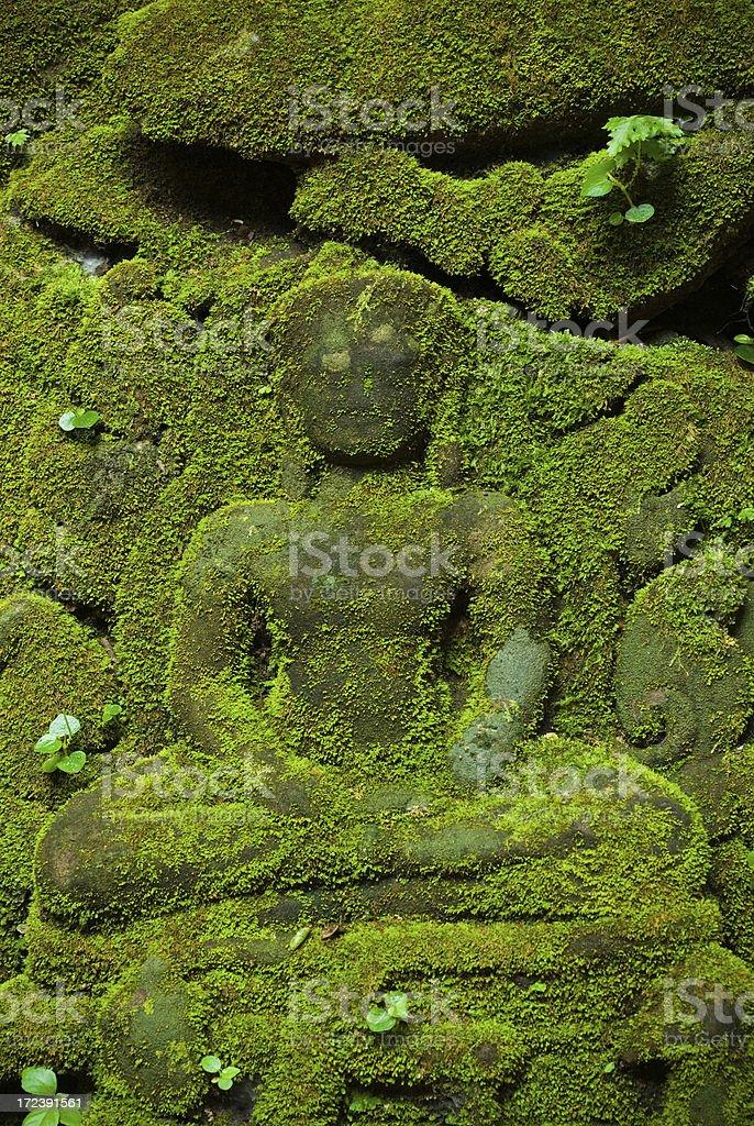 Angkor Wat - Moss Covered Buddha royalty-free stock photo