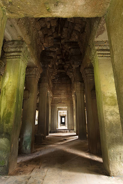 Angkor Wat - Phreah Khan Entrance stock photo