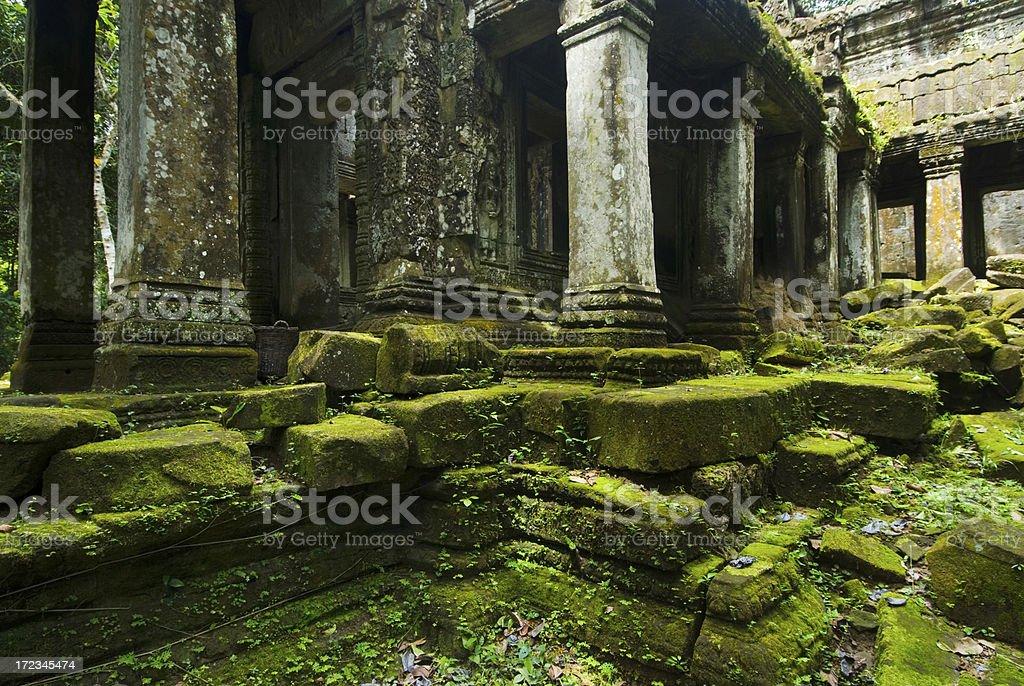 Angkor Wat - Phreah Khan Stones royalty-free stock photo