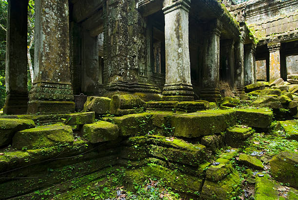 Angkor Wat - Phreah Khan Stones stock photo