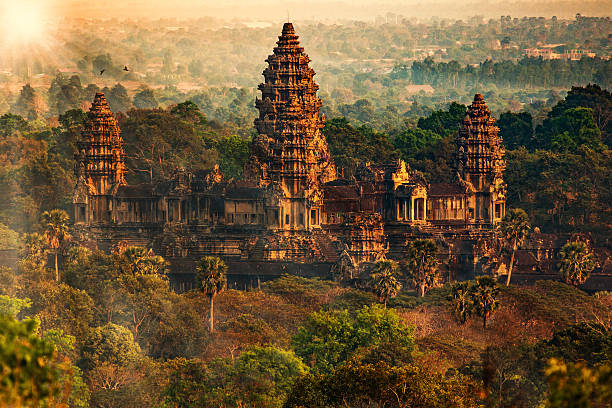 angkor wat - tapınak stok fotoğraflar ve resimler