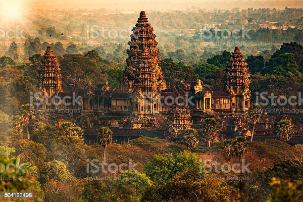 Amazing view down from Angkor Tom on late evening.