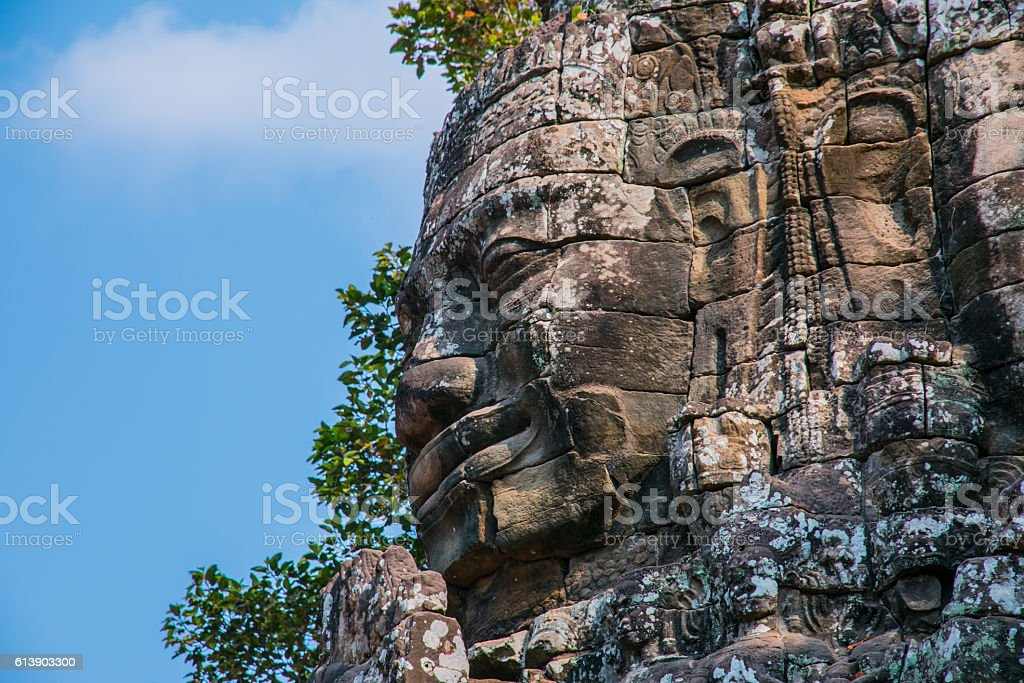 Angkor Wat sculpture stock photo