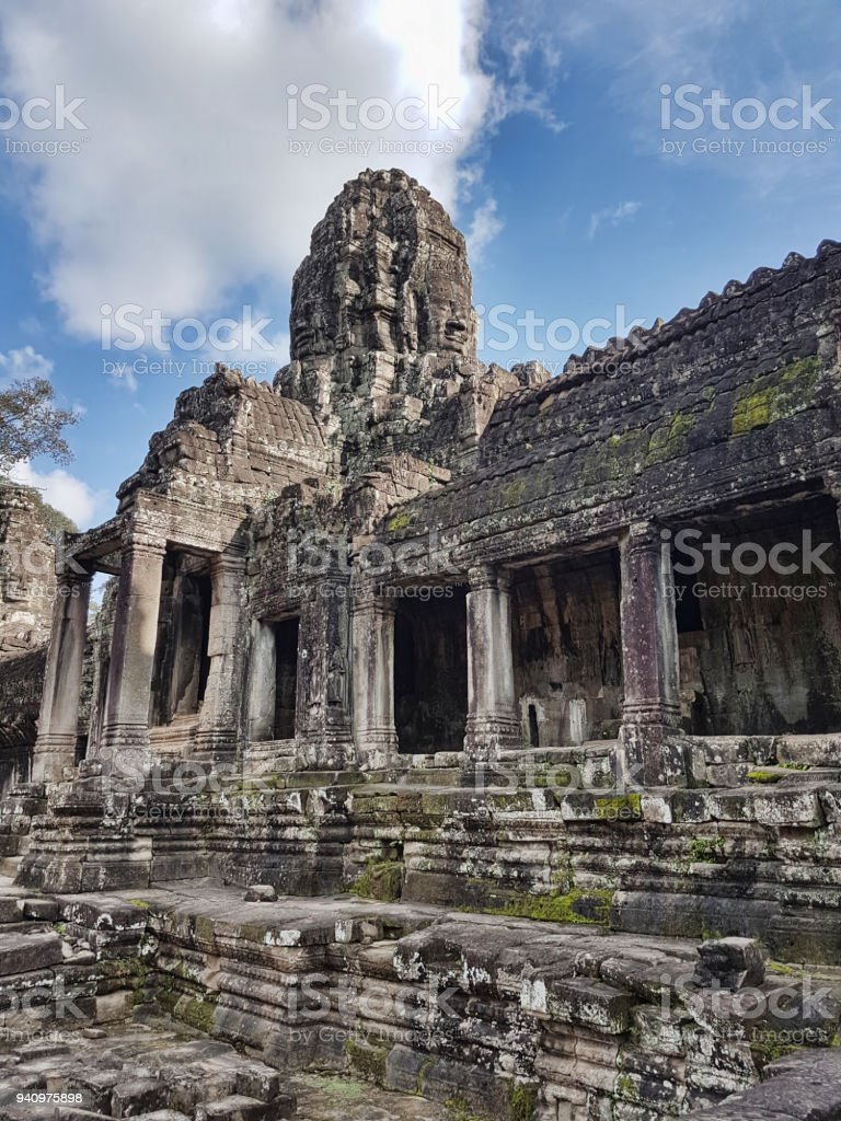 Angkor Wat Temple ancient kingdom in Thailand stock photo