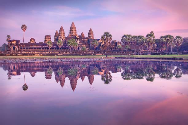 Angkor Wat Tempel bei Sonnenaufgang, Siem Reap, Kambodscha – Foto