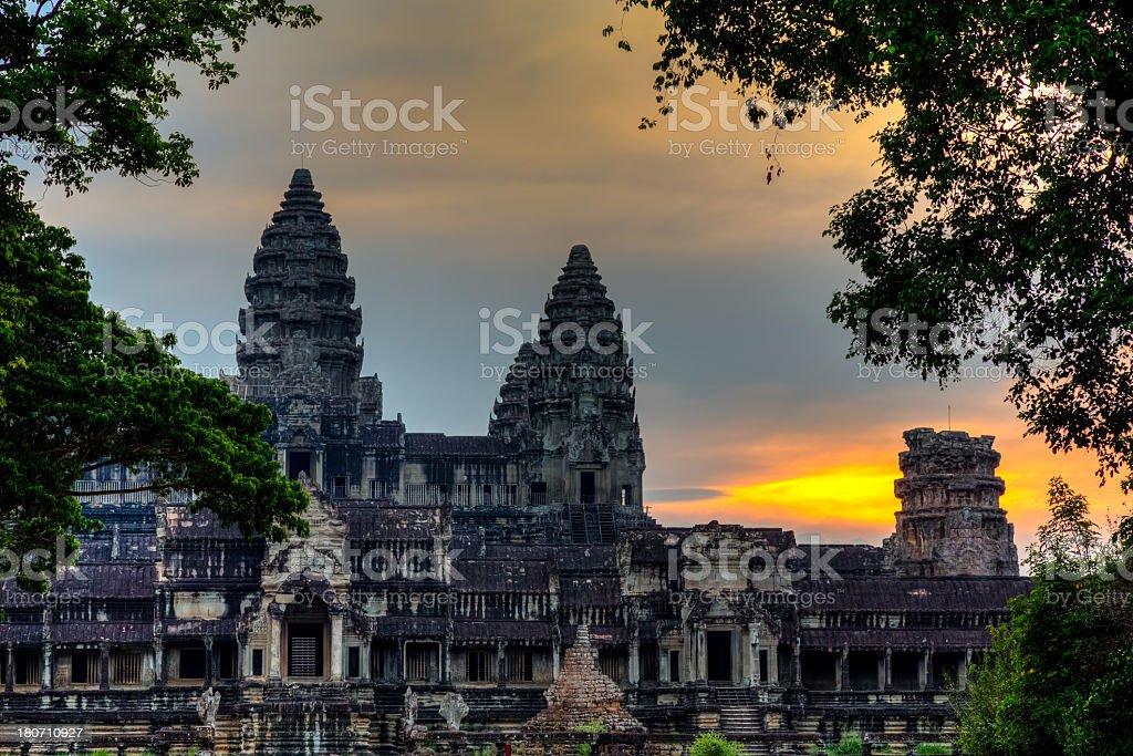 Temple d'Angkor Vat au coucher du soleil, Siem Reap, Cambodge - Photo