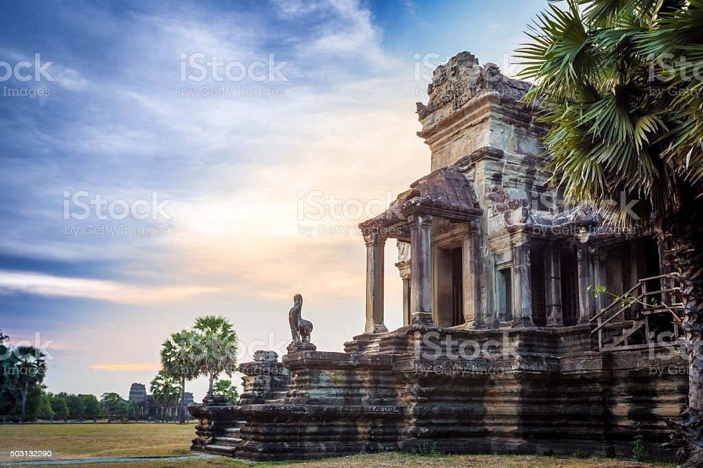 Angkor Wat Temple at Sunset, Siem Reap, Cambodia stock photo