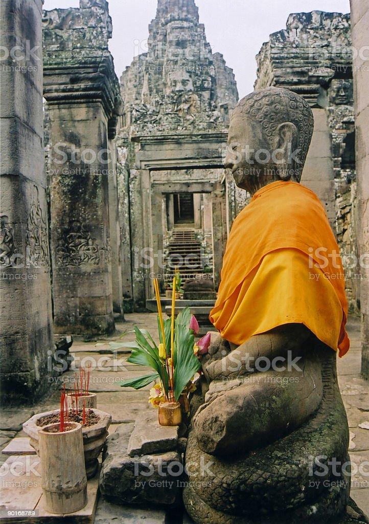 angkor wat temple buddha cambodia royalty-free stock photo
