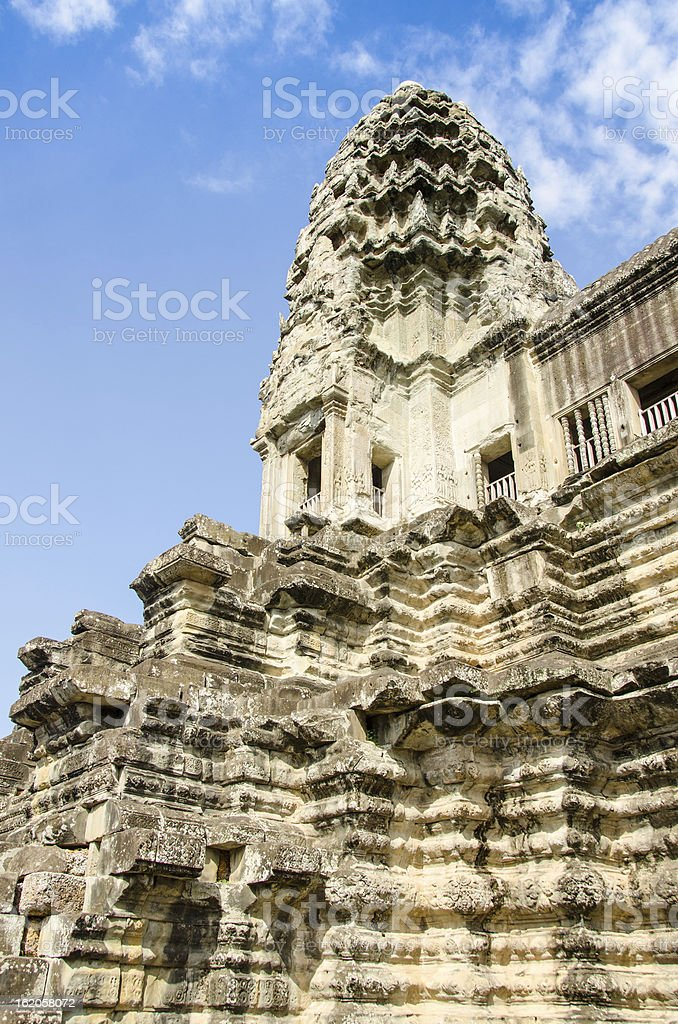 Angkor Wat temple, Cambodia royalty-free stock photo