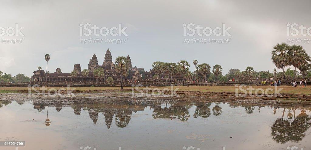 Angkor Wat temple panoramic view stock photo