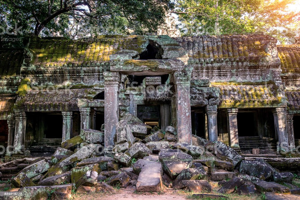 Angkor Wat Temple, Siem reap in Cambodia. stock photo