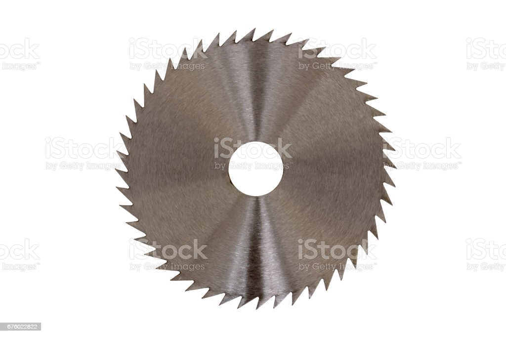 Angle Grinder Wood Blade isolated stock photo