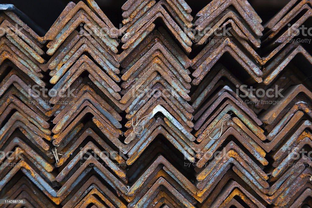 Angle iron royalty-free stock photo