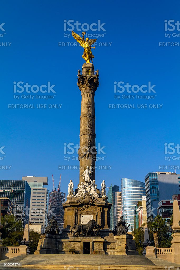 Angle of Independence in Mexico City stock photo