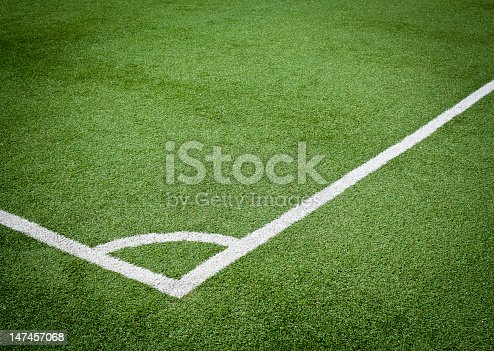 Angle of soccer field.