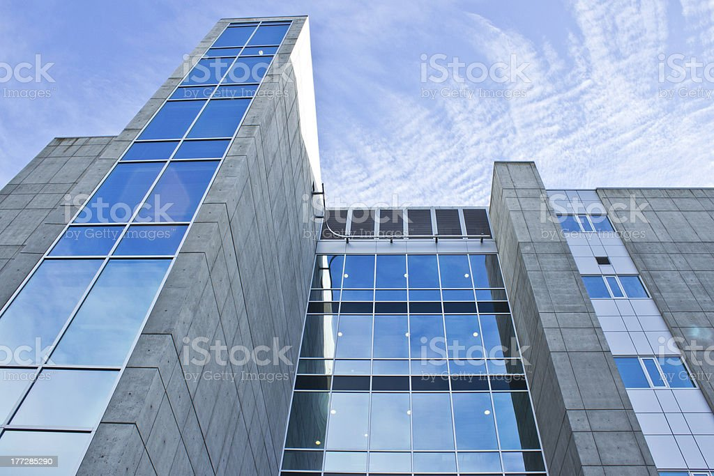 Angle Shot of office Building royalty-free stock photo