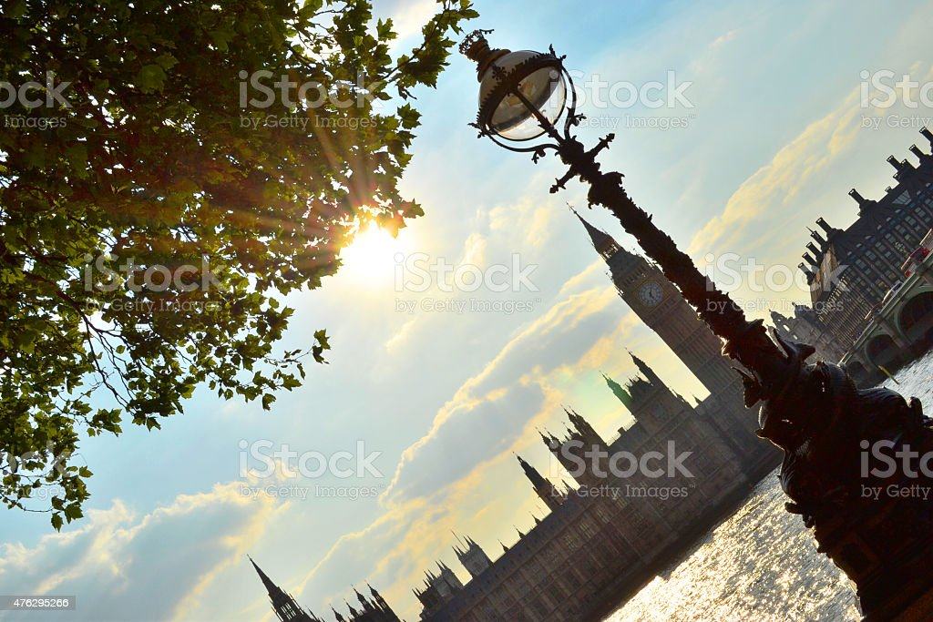 Angle Shot of Westminister stock photo