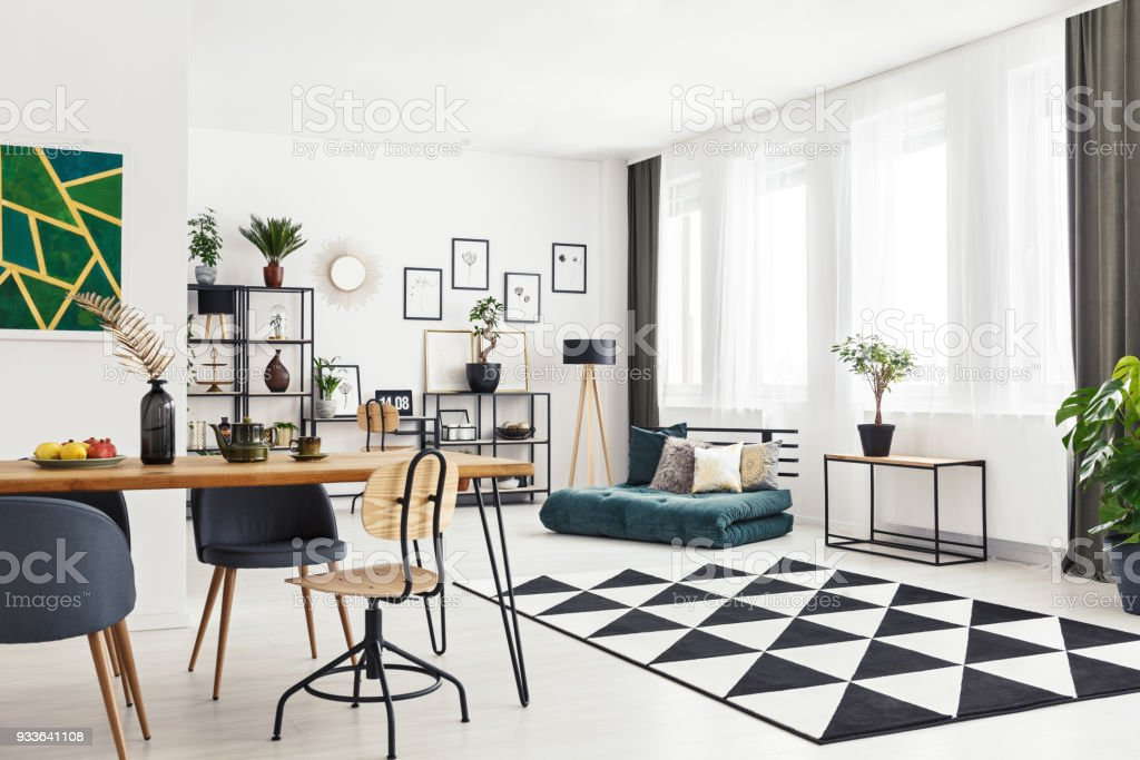 Angle view of room stock photo