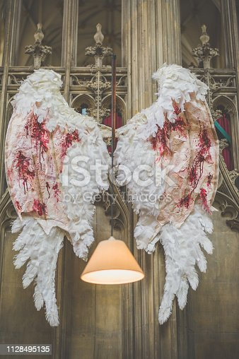 Angle wings with blood