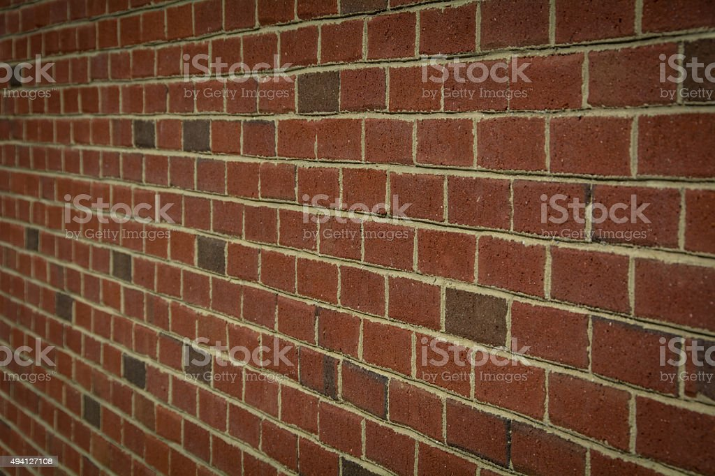 Angled Brick Wall Background stock photo