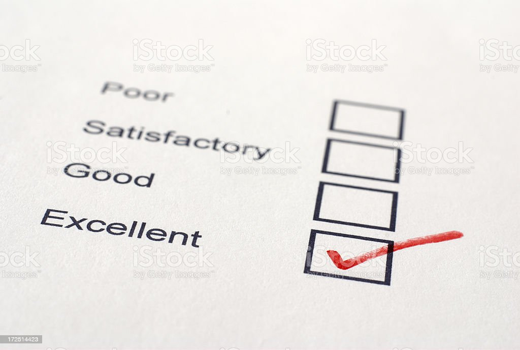Angled Excellent Survey royalty-free stock photo