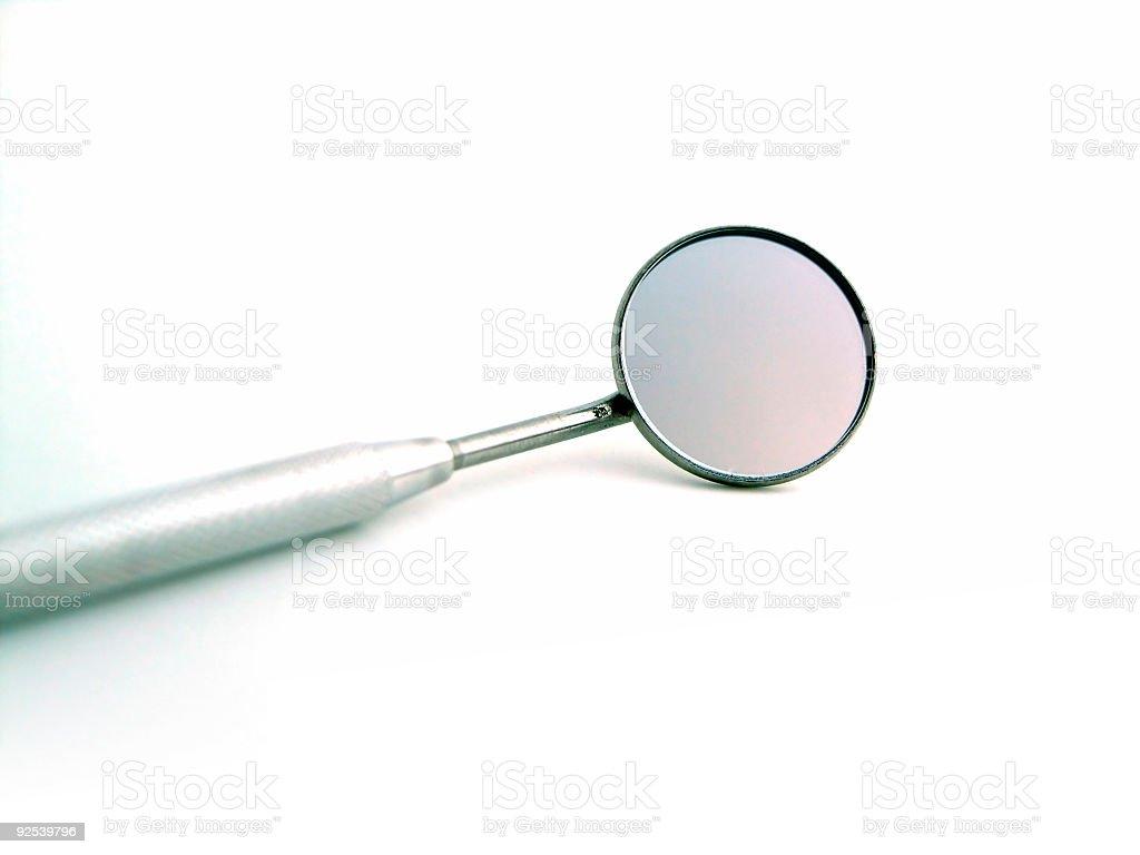 Angled mirror stock photo