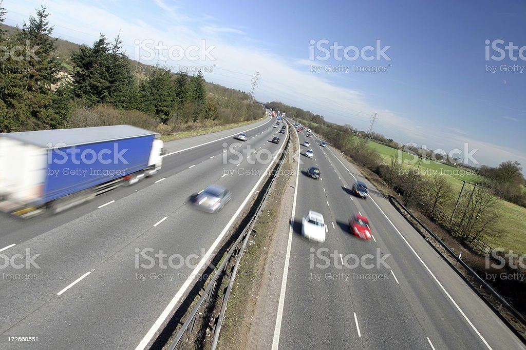 Angled motorway royalty-free stock photo