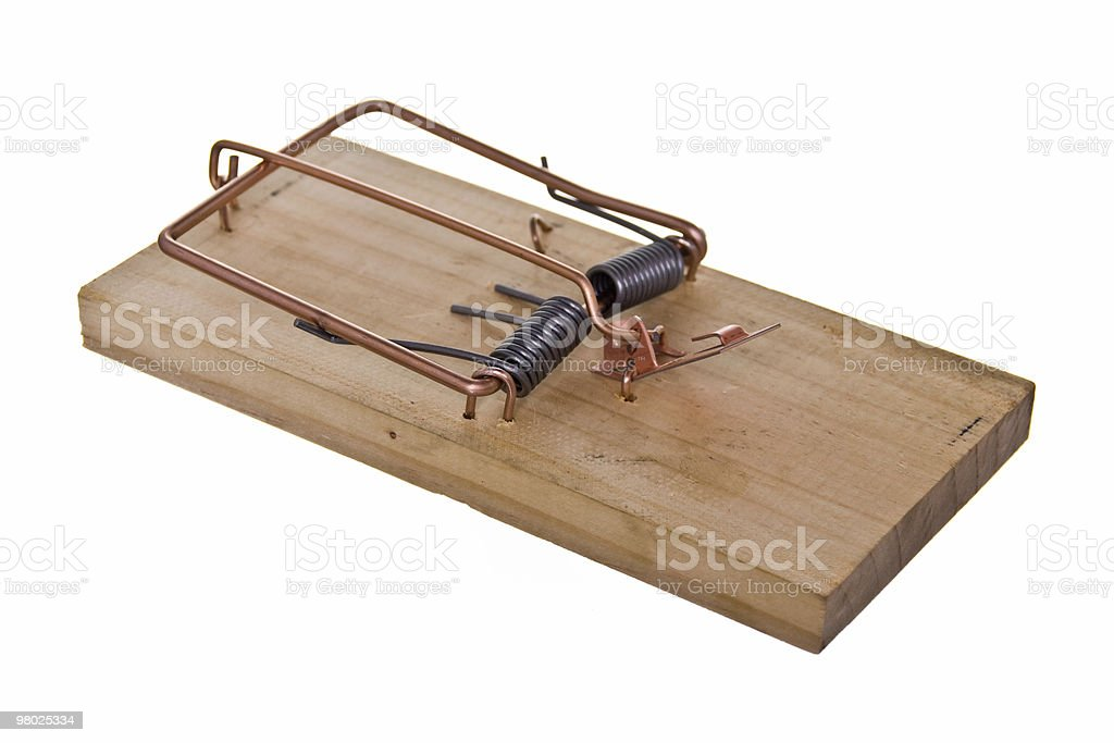 angled mouse trap royalty-free stock photo
