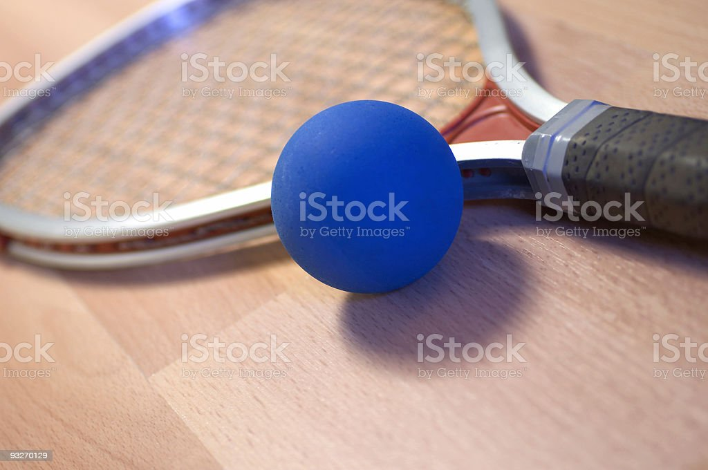 Angled Racquet royalty-free stock photo