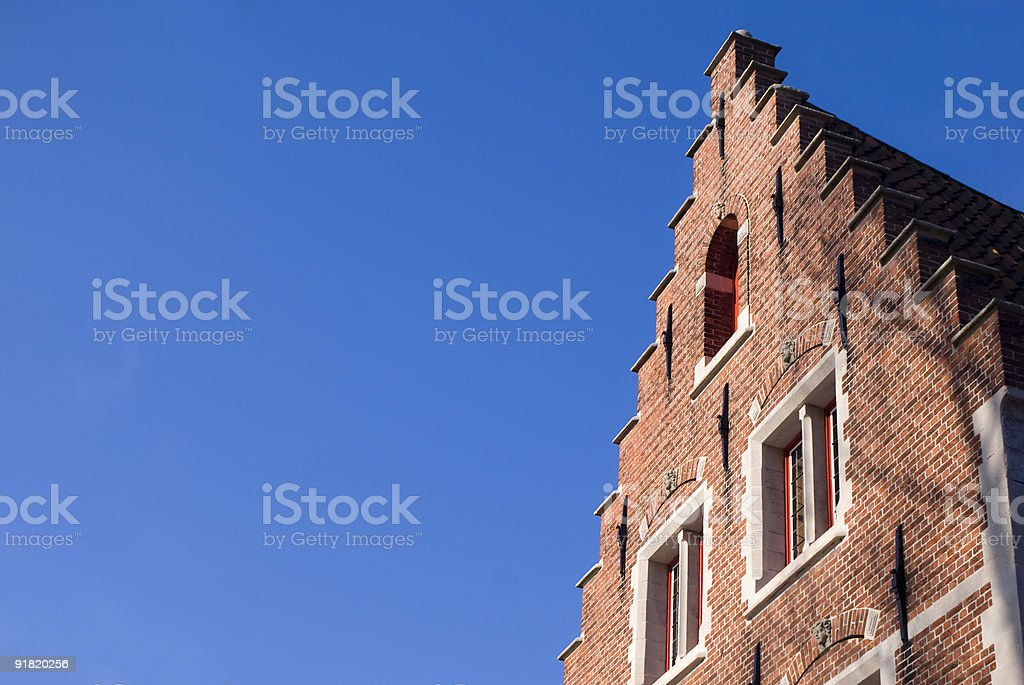 Angled Step-Roof House royalty-free stock photo
