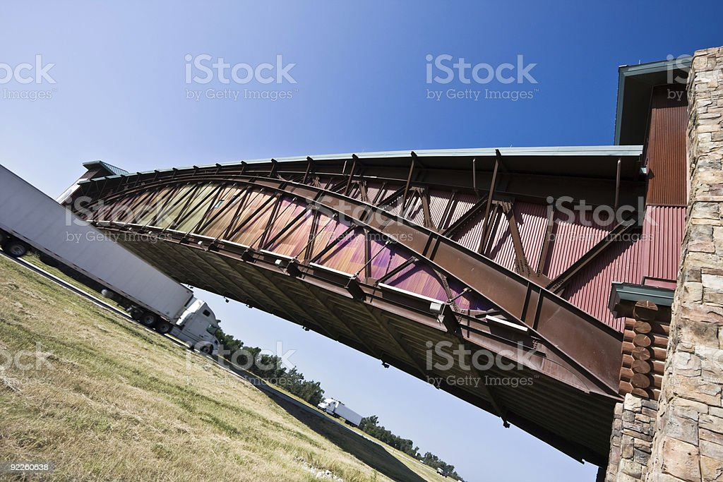 Angled view of an Archway monument stock photo