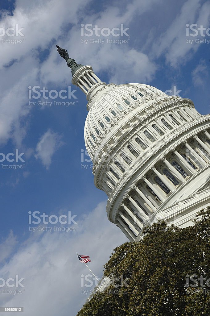 Angled view of the Capitol Buildings royalty-free stock photo