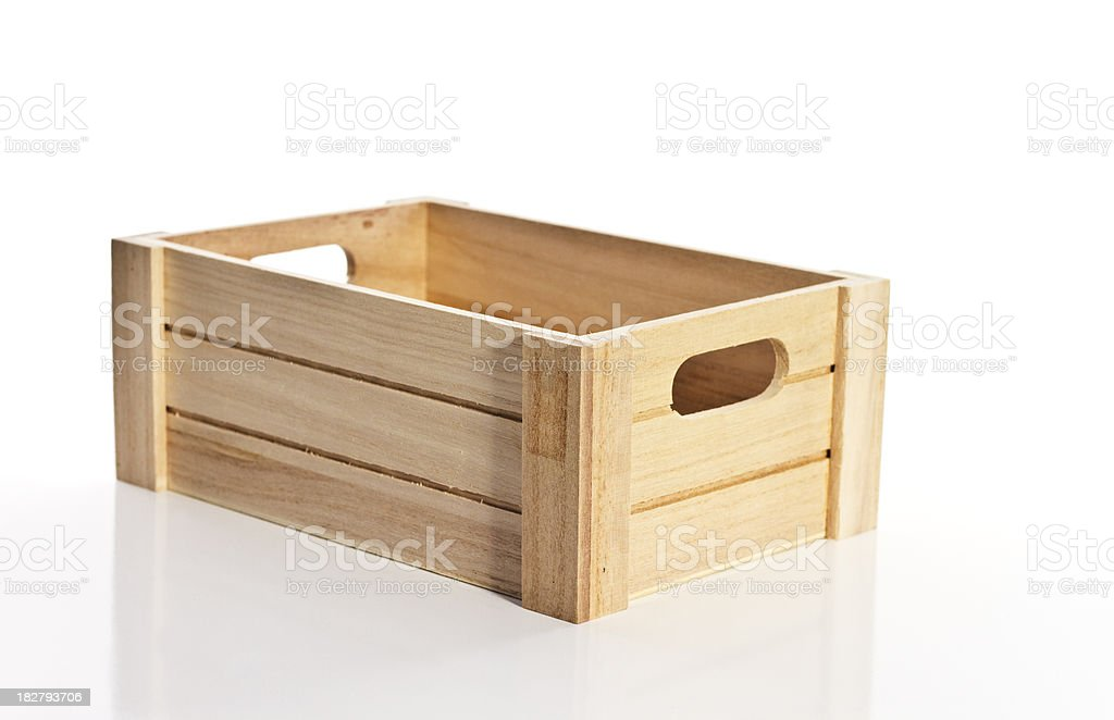 Angled Wooden Box stock photo