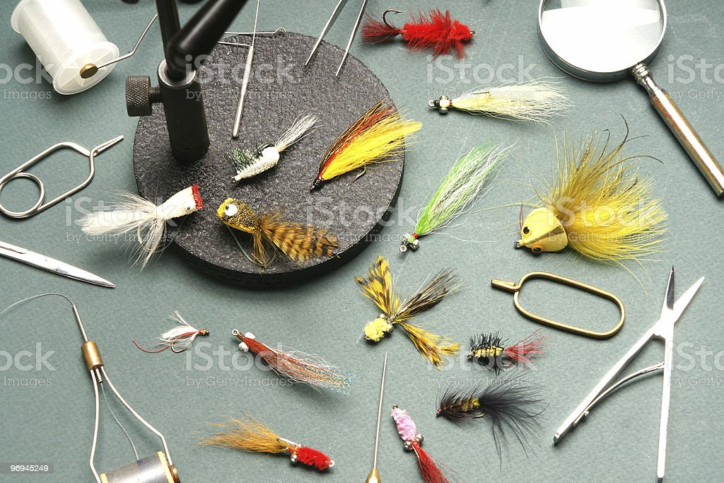 Angler's tools and products royalty-free stock photo