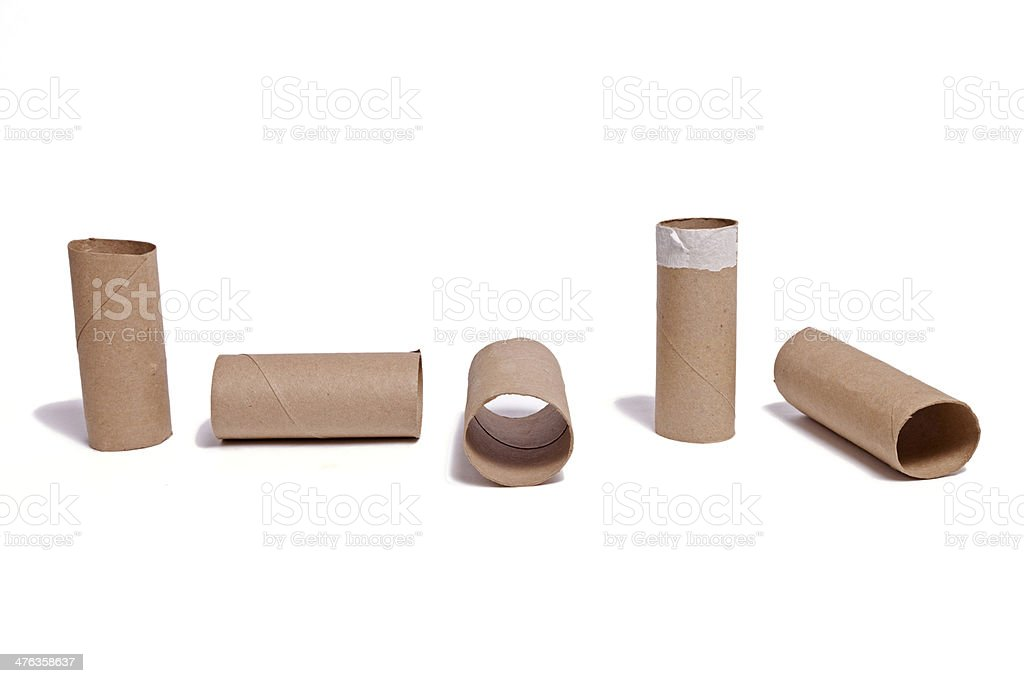 Angles of Toilet Paper Roll royalty-free stock photo
