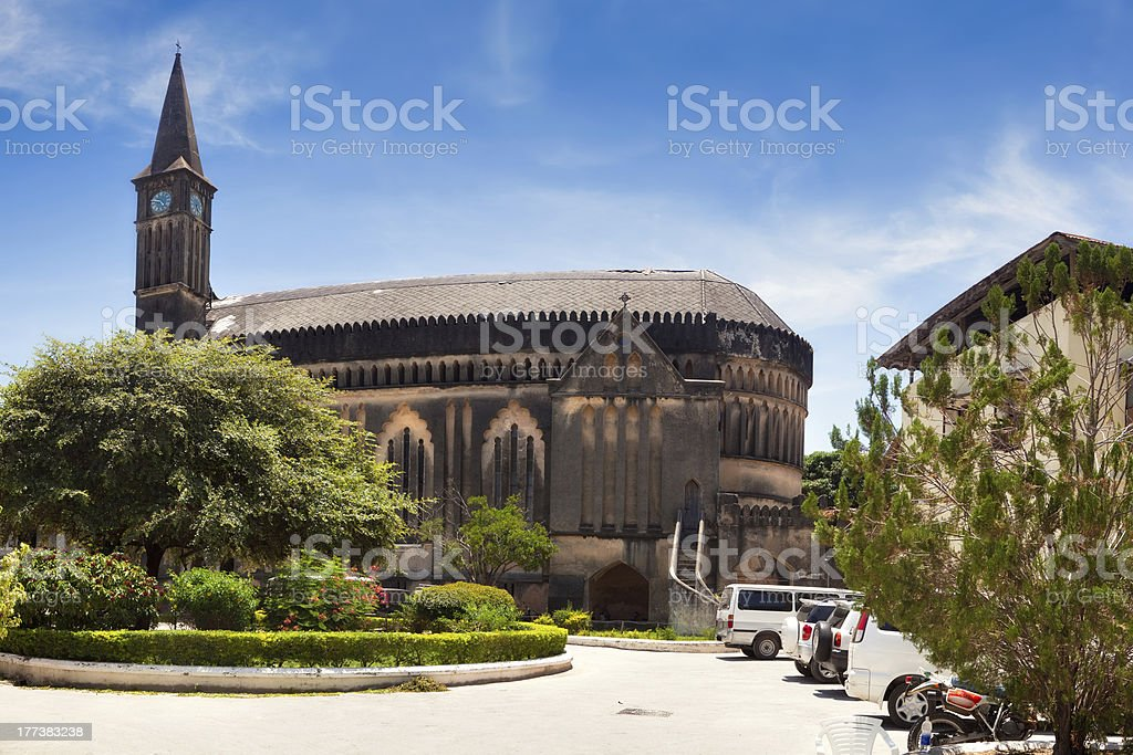 Anglican cathedral Christ Church, Stone Town, Zanzibar stock photo