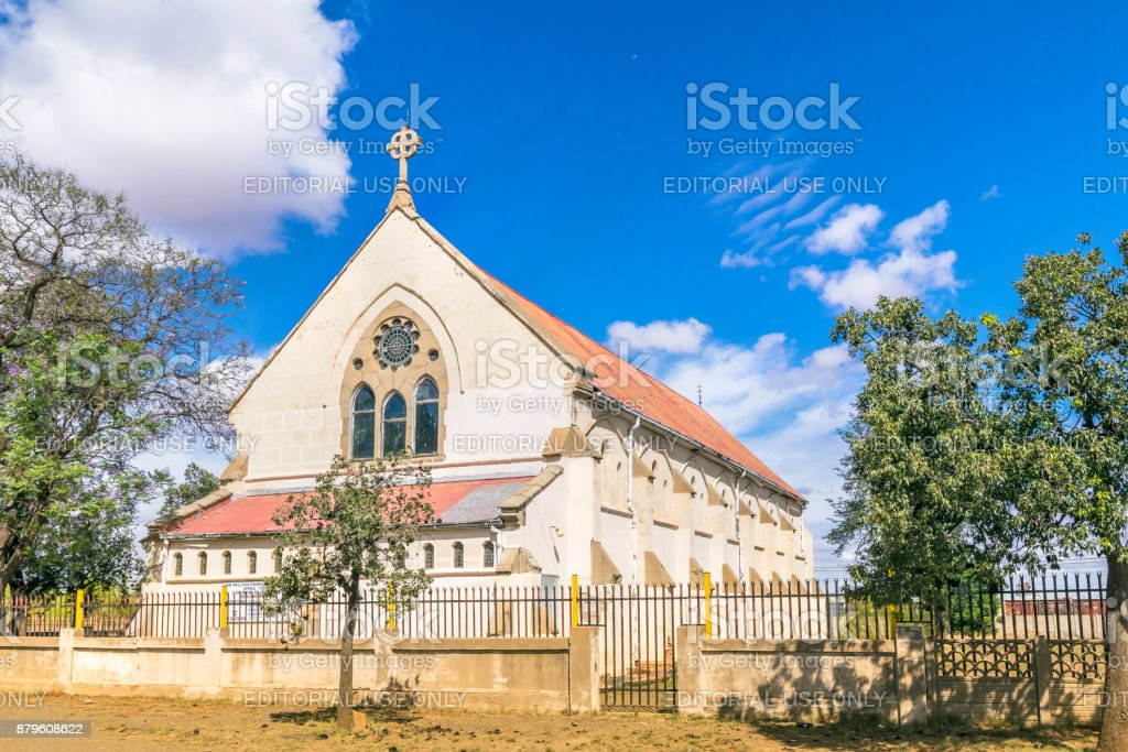 Anglican church in Kimberley, South Africa stock photo