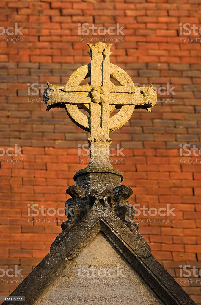 Anglican cross royalty-free stock photo