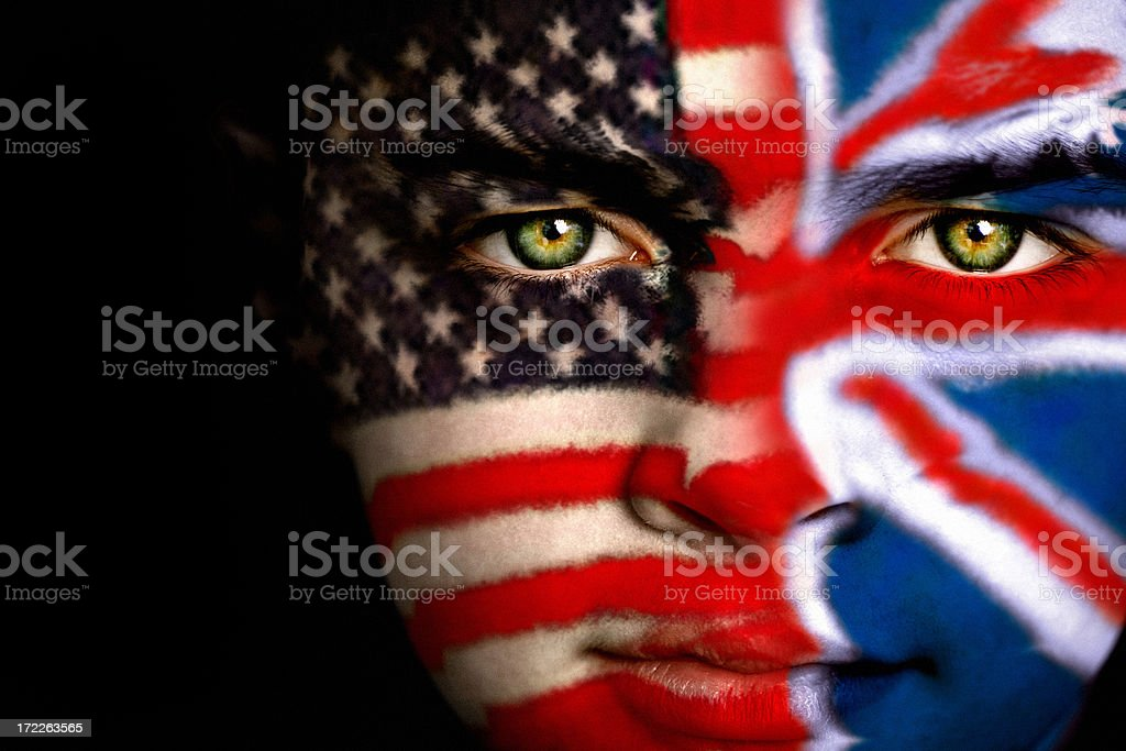 Anglo-American boy royalty-free stock photo