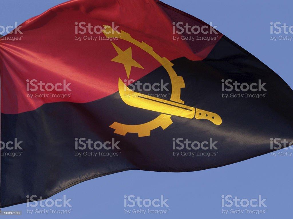 Bandeira de Angola - foto de acervo